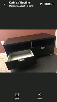 TV stand. Wooden 2-drawer, has wheels Falls Church, 22042