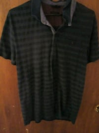 black and gray stripe polo shirt Hamilton, L8M 1Z5