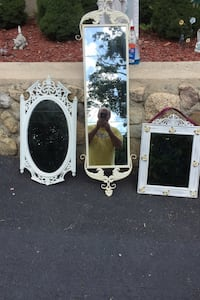 3 cast iron mirrors all different sizes  Lynn, 01905