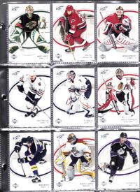 2005 9 card ud ice mint condition,plus 2 other cards and oversize hockey coin oh selane Toronto