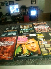 six assorted DVD movie cases Silver Spring, 20910