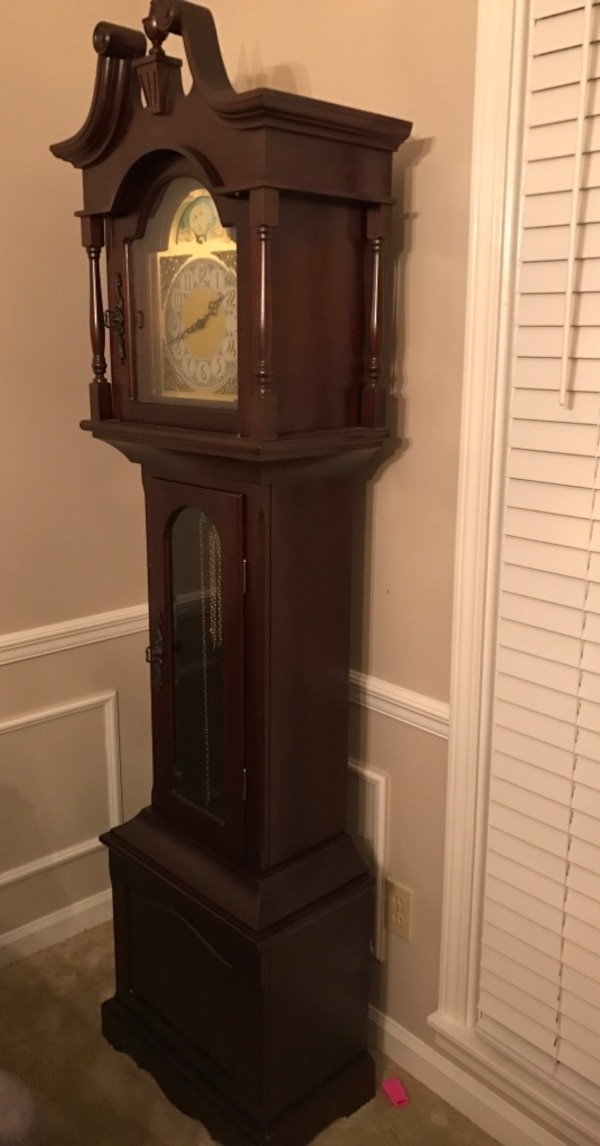 Used Antique King Arthur Clock Company Frank Hermle Grandfather