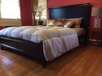 New Espresso Queen Bed  Silver Spring