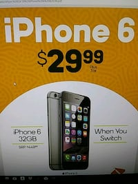 iPhone 6 32 GB in store offer only when u switch 1122 mi