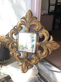 Wall decor - mirror with candle holder
