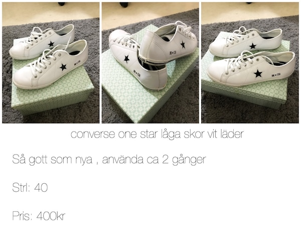 quality design 265d2 270df Used Vita converse for sale in Malmö - letgo
