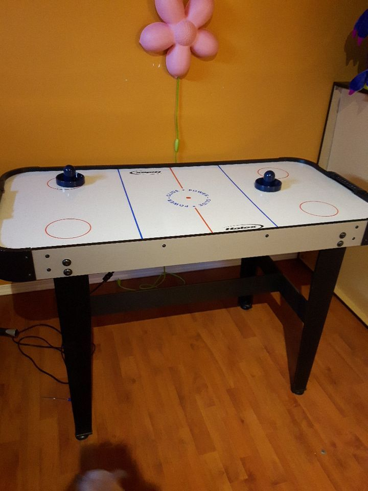 used white and black air hockey table for sale in calgary letgo rh ca letgo com