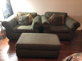 Arm chairs and ottoman