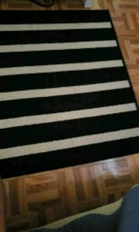 white and black stripe area rug Mississauga, L5C 1X7