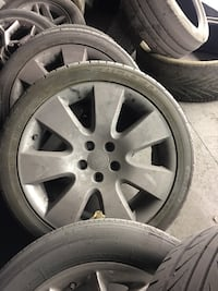 Set of Silver Audi 18's w/ Tires