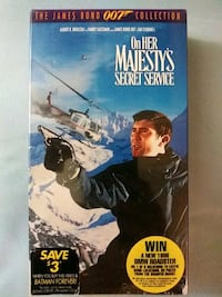 007 On Her Majesty's Secret Service vhs