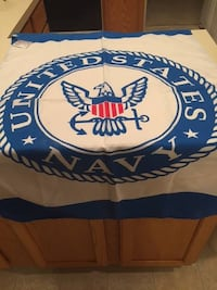 Blue and white United States Navy flag, new with tags