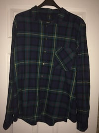 purple and green plaid flannel