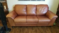 Brown leather couch and loveseat . Free delivery  Edmonton, T6H