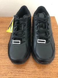 Pair of black Fila memory foam shoes slip resistant size 9 new only tried on once Leesburg, 20175