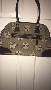 black and gray leather handbag Las Vegas, 89139