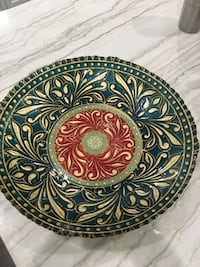 Artistic Accent Hand Decorated Plate/ Bowl