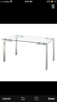 Roca Dinning Tempered Glass Table