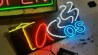 black multicolored neon signage