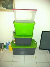 green, red, and yellow plastic toy organizer Cape Coral, 33990
