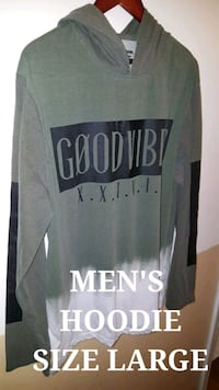 Men's Extra Long Hoodie size Large  Seattle, 98188