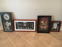 three brown wooden framed wall decors San Antonio, 78254