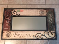 Black and brown wooden framed mirror Gray, 70359