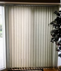 Quality Vertical Blinds purchased from local decorating shop