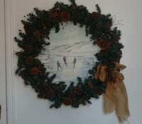 green and brown garland Christmas wreath Edmonton, T6A 2J1