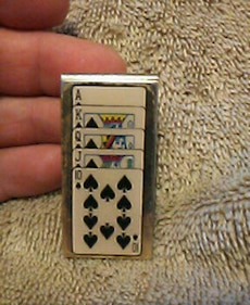 stainless steel poker cards painted money clip