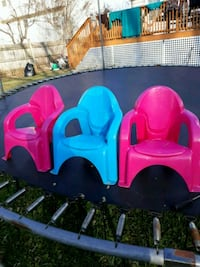 toddler's pink and blue plastic rocking chair Gaithersburg, 20879