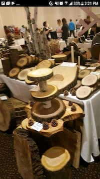 Wood slices, plate chargers, birch branches, stump Mississauga, L5C 4B9