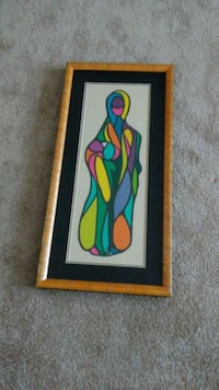 multicolored woman painting with brown frame Marlow Heights, 20748