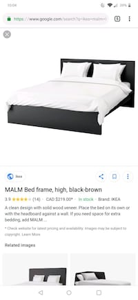Ikea malm bed only  St. Albert, T8T 1R8