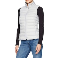 AMAZON WOMANS LIGHTWEIGHT VEST M LIGHT GREY