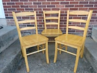 3 Solid Wood Chairs...One Price for All..$15 Hanover, 17331