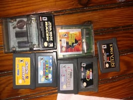 Nintendo game boy and games package