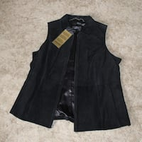 Leather Vest XL by Dennis Basso