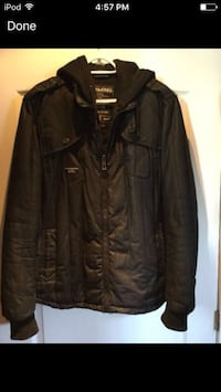Jack & Jones black jacket for men L. The jacket is in excellent condition Laval, H7M 1A1