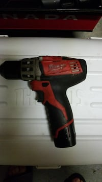 12V red Milwaukee cordless drill