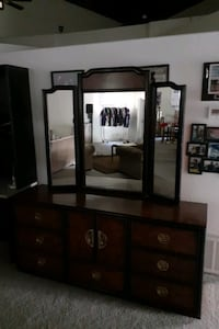Dresser and mirrow from the Dixie collection