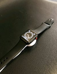 silver aluminum case Apple Watch with black sport band Baltimore, 21215