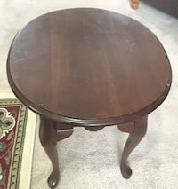 Oval side table /end table with drawer.  25.5 x 21.5 x 22