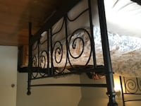 New double bedframe powder coated black 56inches wide 78inches long perfect condition TORONTO