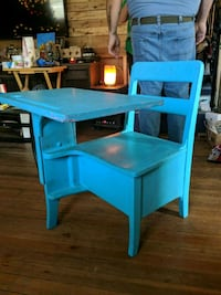 blue and brown wooden table Greenwich, 12834