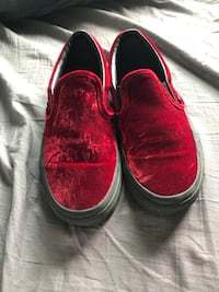 pair of red slip-on shoes Bozeman, 59718