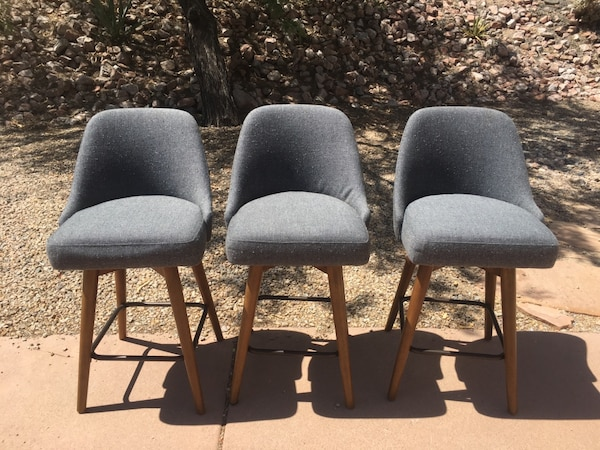 Incredible West Elm Mid Century Swivel Counter Stools 3 Cjindustries Chair Design For Home Cjindustriesco