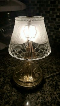 brass-colored clear cut glass table lamp Miami, 33157