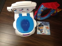 Kids portable potty and tiolet seat With potty book Mississauga, L5W 1H7