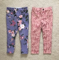 2 pairs toddler girl jeggings size 3T Mississauga, L5M 0H2